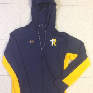 UA Women's Navy/Gold Warm up Jacket