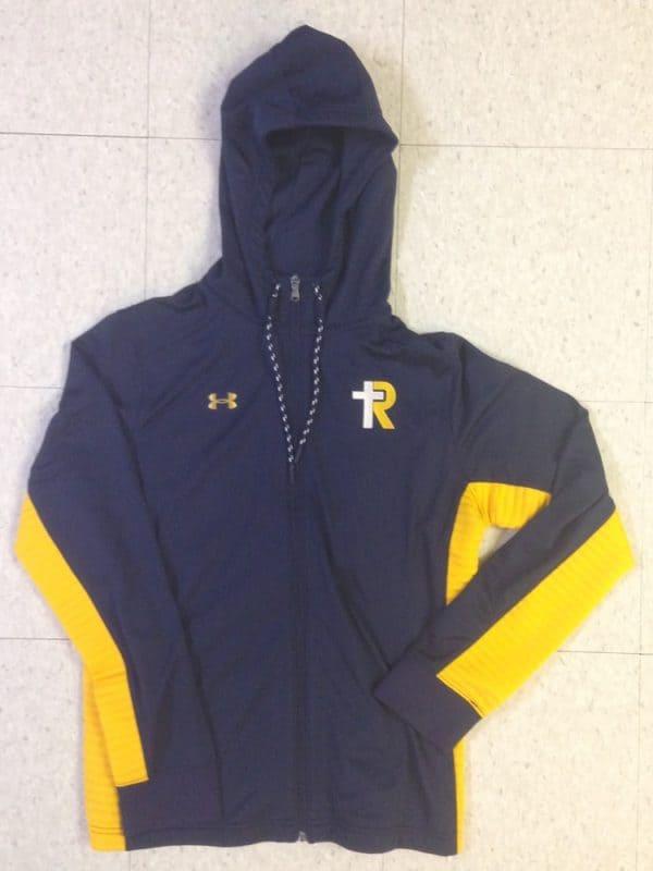 UA Women's Navy/Gold Warm up Jacket