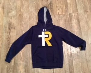 Youth UA Hustle Fleece Hoody / Navy