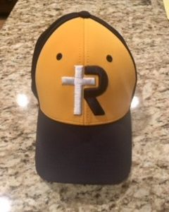 Navy & Yellow R-Cross Hat