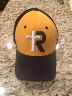 Navy & Yellow R-Cross Hat