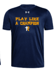 Youth UA Locker T--Play Like A Champion Navy