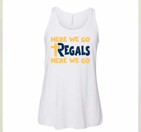 Here We Go Regals White Tank Top (Girls)