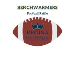 Regina Benchwarmer Raffle football-logo graphic