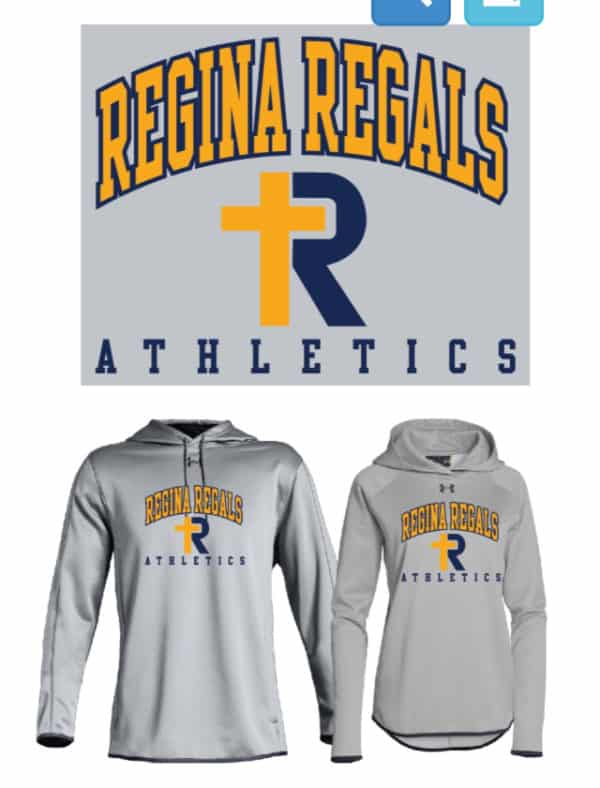 UA Double Threat Hoodie--Grey