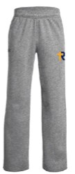 UA Grey Fleece Youth Pant