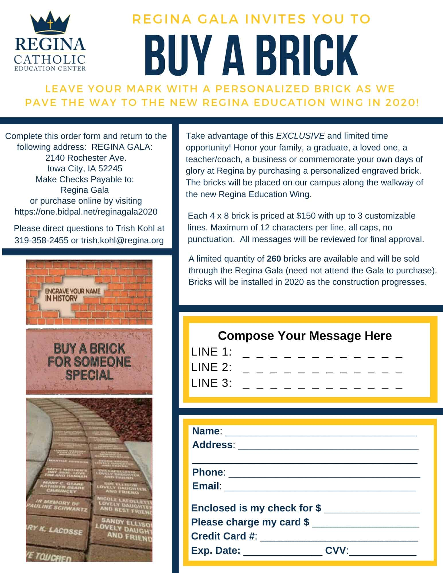 Buy A Brick Order Form