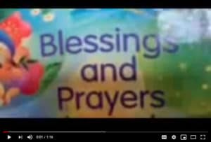 """Morning Prayer Graphic """"Blessings and Prayers"""" with flowers"""