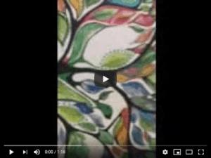 Watercolor leaves image