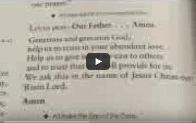 Prayer book verse