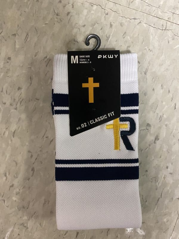White R-cross Socks